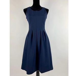 J.Crew NWT Pleated Flare Dress A Line Navy 4